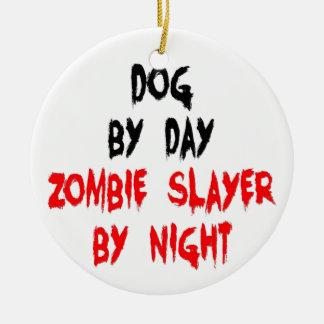 Zombie Slayer Dog Double-Sided Ceramic Round Christmas Ornament