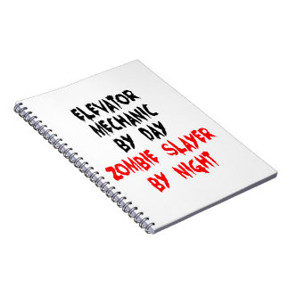 Zombie Slayer Elevator Mechanic Notebook