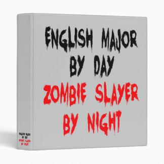 Zombie Slayer English Major 3 Ring Binder
