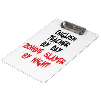 Zombie Slayer English Teacher Clipboard