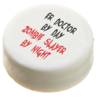 Zombie Slayer ER Doctor Chocolate Dipped Oreo
