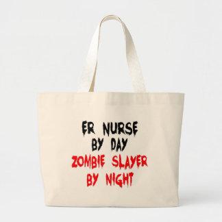 Zombie Slayer ER Nurse Large Tote Bag