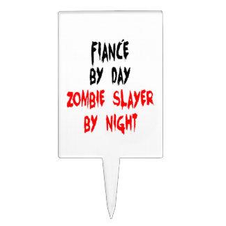Zombie Slayer Fiance Cake Topper