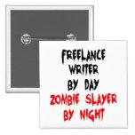 Zombie Slayer Freelance Writer Button