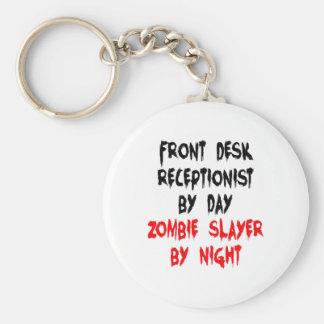 Zombie Slayer Front Desk Receptionist Keychain