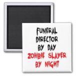 Zombie Slayer Funeral Director Refrigerator Magnet
