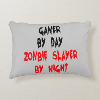 Zombie Slayer Gamer Decorative Pillow