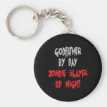 Zombie Slayer Godfather Basic Round Button Keychain