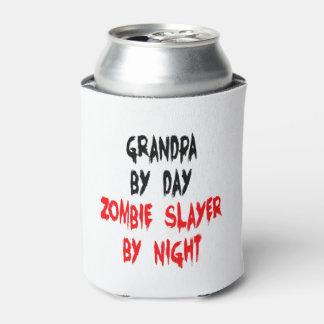 Zombie Slayer Grandpa Can Cooler
