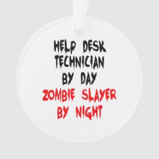 Zombie Slayer Help Desk Technician Ornament