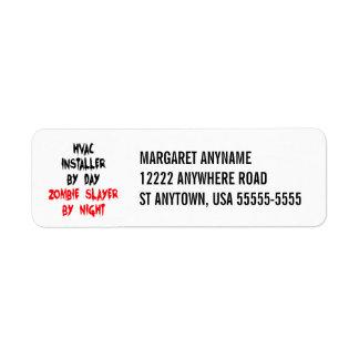 Zombie Slayer HVAC Installer Label