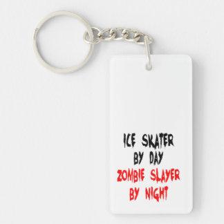 Zombie Slayer Ice Skater Rectangular Acrylic Keychains