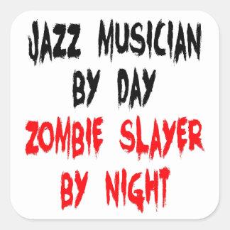 Zombie Slayer Jazz Musician Sticker