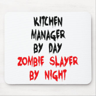 Zombie Slayer Kitchen Manager Mouse Pad