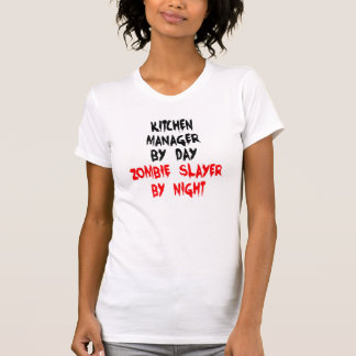 Zombie Slayer Kitchen Manager Tee Shirt