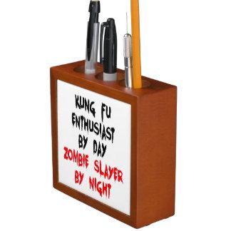Zombie Slayer Kung Fu Enthusiast Desk Organizer