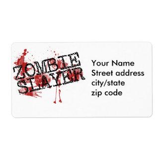 Zombie Slayer Label