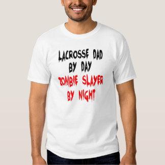 Zombie Slayer Lacrosse Dad T-Shirt