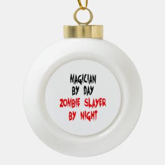 Zombie Slayer Magician Ceramic Ball Christmas Ornament