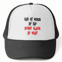 Zombie Slayer Maid of Honor Trucker Hat