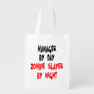 Zombie Slayer Manager Grocery Bags