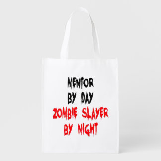 Zombie Slayer Mentor Reusable Grocery Bag