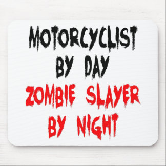 Zombie Slayer Motorcyclist Mouse Pad