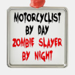 Zombie Slayer Motorcyclist Ornaments