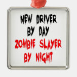 Zombie Slayer New Driver Square Metal Christmas Ornament