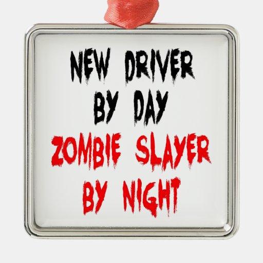 Zombie Slayer New Driver Christmas Tree Ornaments