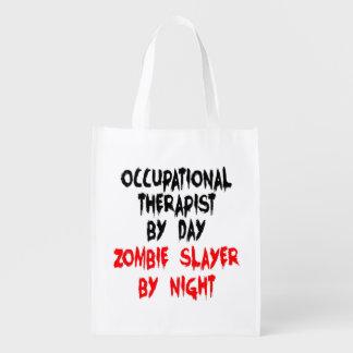 Zombie Slayer Occupational Therapist Grocery Bag