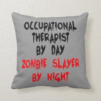 Zombie Slayer Occupational Therapist Throw Pillow
