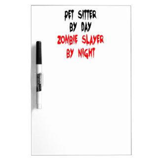 Zombie Slayer Pet Sitter Dry-Erase Board