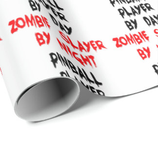 Zombie Slayer Pinball Player Wrapping Paper