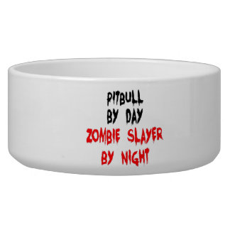 Zombie Slayer Pitbull Dog Bowl