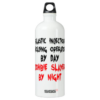 Zombie Slayer Plastic Injection Molding Operator Aluminum Water Bottle