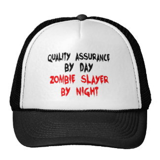 Zombie Slayer Quality Assurance Worker Trucker Hat
