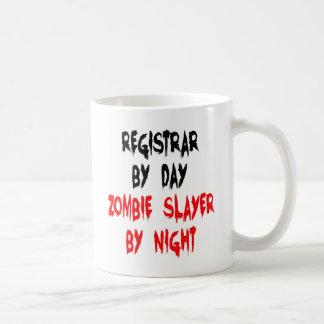 Zombie Slayer Registrar Coffee Mugs