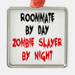 Zombie Slayer Roommate Christmas Ornaments
