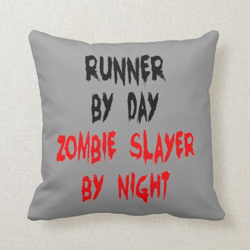 Zombie Slayer Runner Pillow