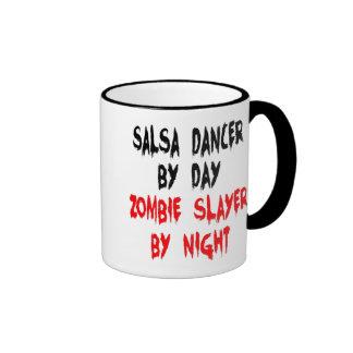 Zombie Slayer Salsa Dancer Ringer Mug