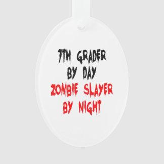 Zombie Slayer Seventh Grader Ornament