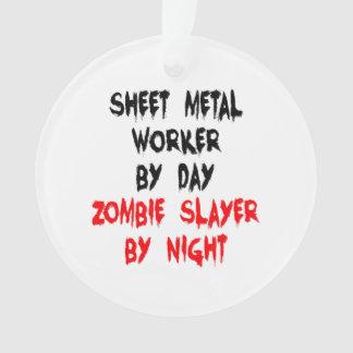 Zombie Slayer Sheet Metal Worker Ornament