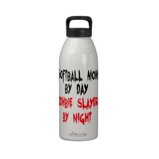 Zombie Slayer Softball Mom Reusable Water Bottles