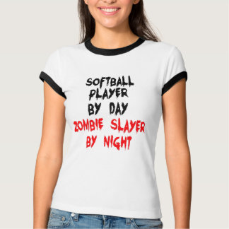 Zombie Slayer Softball Player T-Shirt