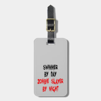 Zombie Slayer Swimmer Tag For Luggage