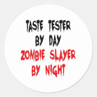 Zombie Slayer Taste Tester Classic Round Sticker