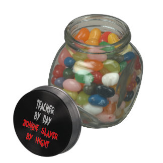 Zombie Slayer Teacher Jelly Belly Candy Jars