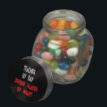 "Zombie Slayer Teacher Jelly Belly Candy Jar<br><div class=""desc"">This eerie text design featuring the quote &quot;Teacher by Day Zombie Slayer by Night&quot; in blood red writing,  is perfect for any teacher that loves zombies.</div>"