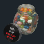 """Zombie Slayer Teacher Jelly Belly Candy Jar<br><div class=""""desc"""">This eerie text design featuring the quote &quot;Teacher by Day Zombie Slayer by Night&quot; in blood red writing,  is perfect for any teacher that loves zombies.</div>"""
